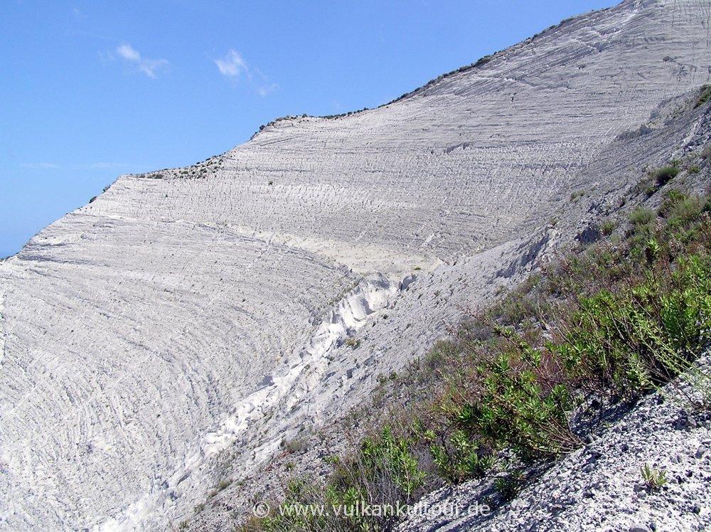 Lipari - Bimssteinabbau am Monte Pilato
