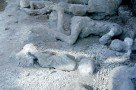 Gipsabdrücke der Opfer in Pompeji (Garten der Fliehenden)