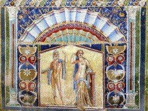 Herkulaneum - Mosaik von Neptun und Anfitrite