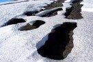 Partielle Schneeschmelze am Ätna (vulkangeheizter Boden)