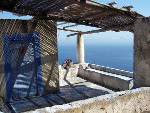 Alicudi - das für eine Terrasse!!