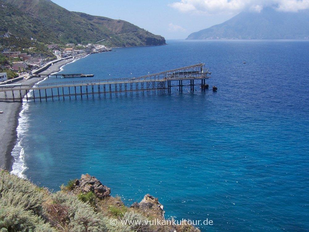 Lipari Nordküste bei Acquacalda