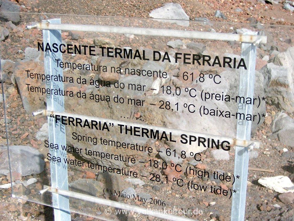 Heiße Thermalquelle von Ferraria