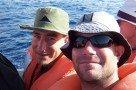 Ulli und Flo beim Whalewatching (São Miguel)
