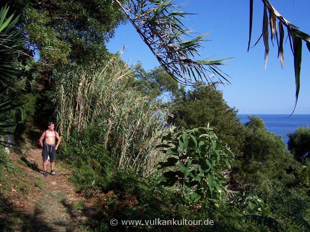 Wanderung von Ribeira Quente nach Ponta Garça