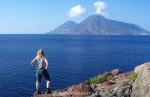 Lipari Westküste - Blick nach Salina