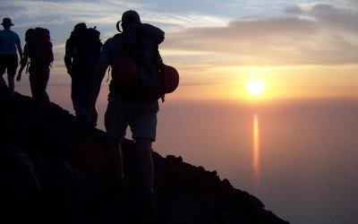 Aufstieg zum Gipfel des Stromboli