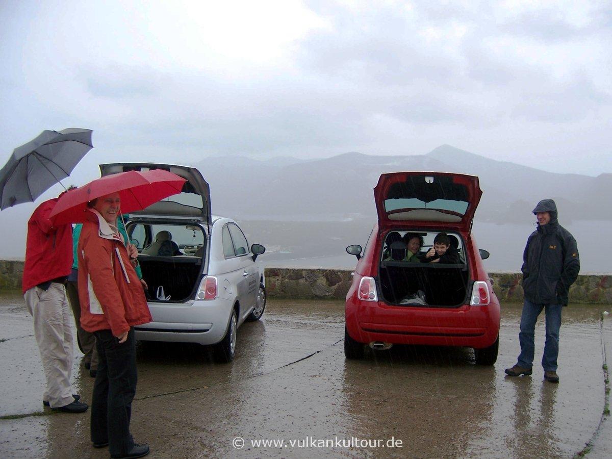Inselrundfahrt auf Lipari mit - nun ja - Panoramablick nach Vulcano