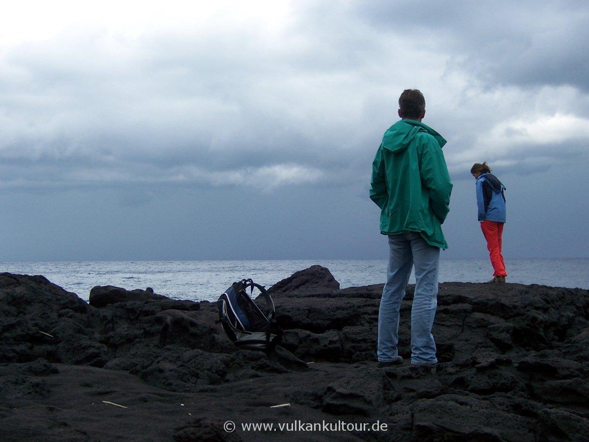 Stromboli - am Strand von Piscita