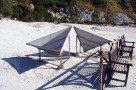 Reflektoren im Vulkan Solfatara (Phlegräische Felder)