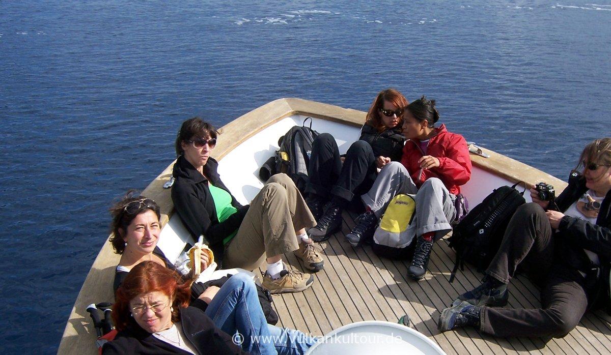 Überfahrt mit Privatboot zum Stromboli