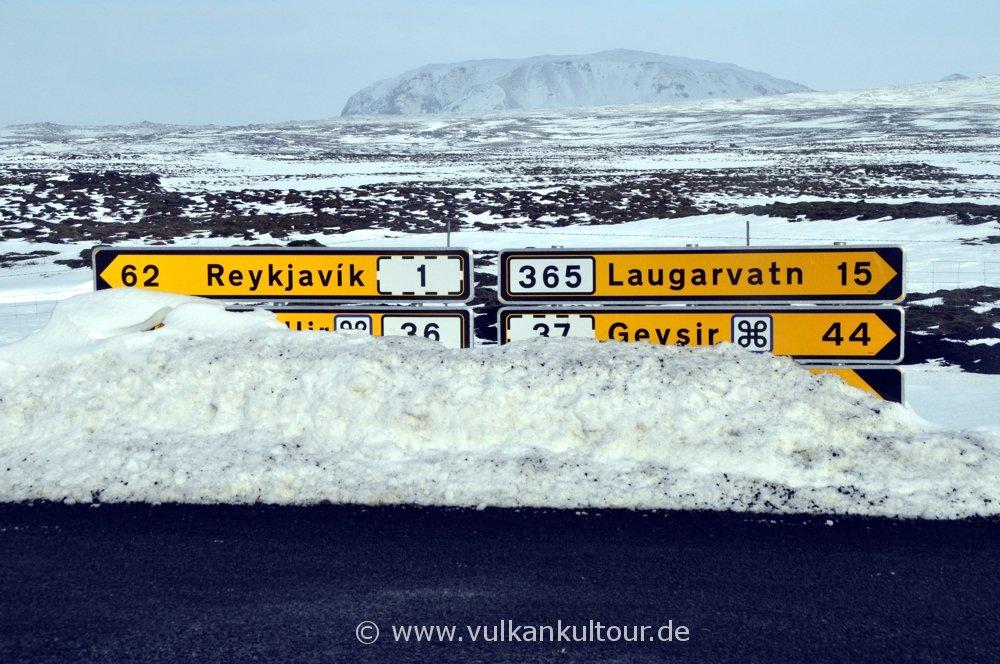 Auf dem Weg nach Þingvellir