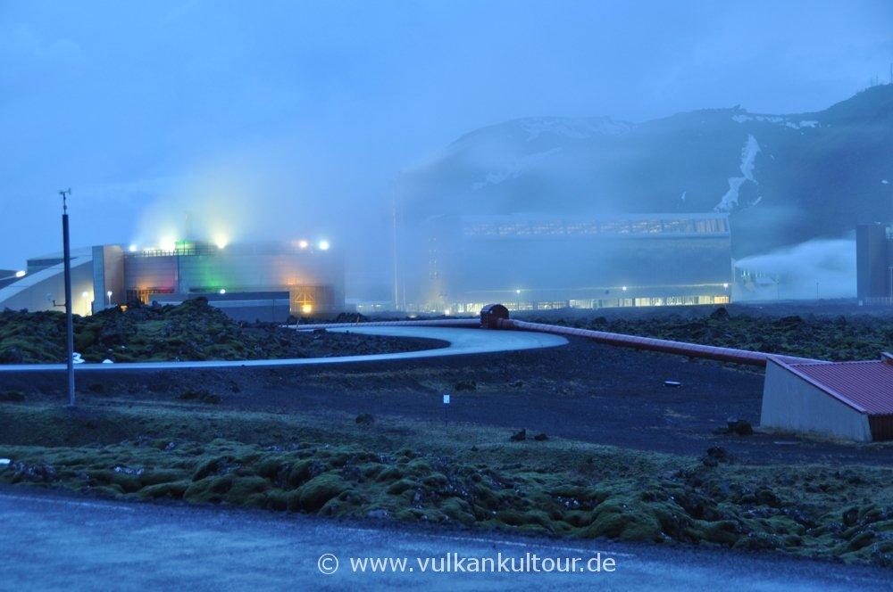 Geothermal-Kraftwerk bei der Blauen Lagune
