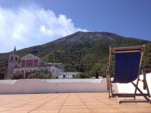 Stromboli - Dachterrasse unserer Pension