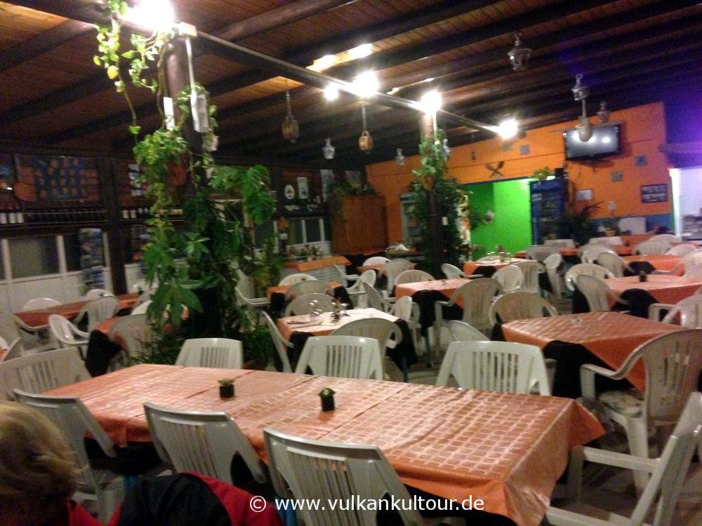 Stromboli - so leer ist es in der Nebensaison im Ristorante Osservatorio