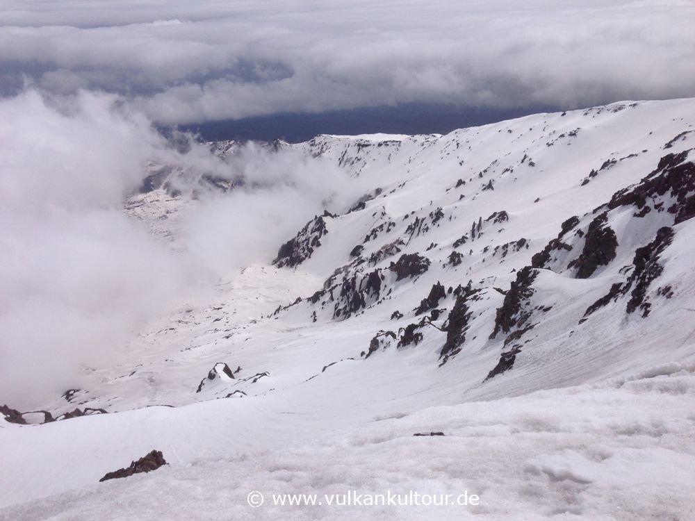 Verschneiter Blick ins Valle del Bove