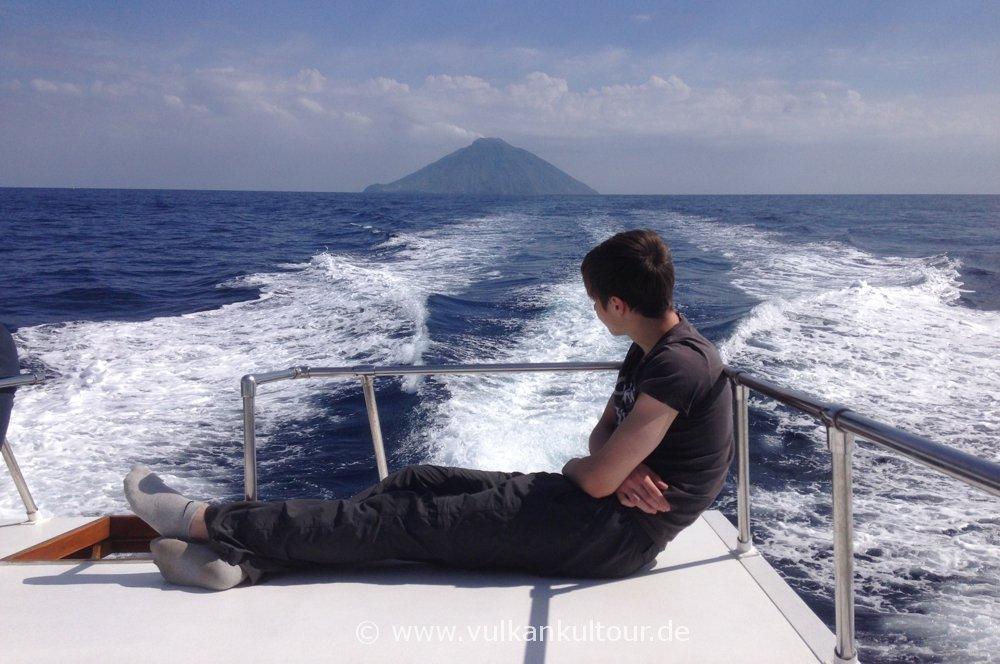 Überfahrt vom Stromboli nach Vulcano