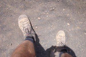 Staubiger Abstieg vom Gran Gratere (Vulcano)
