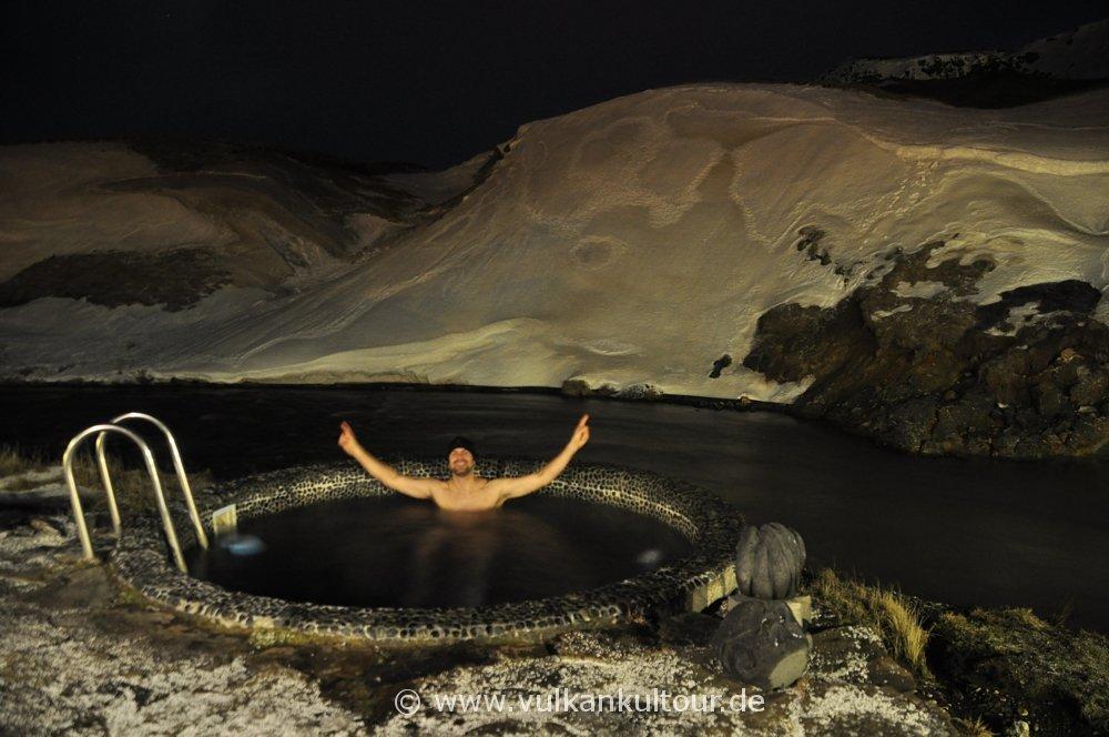 Hot Pot in unserm Hotel in Hveragerði