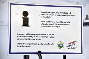 Schwefelwasserstoffwarnung