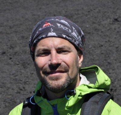 Florian Becker am Ätna