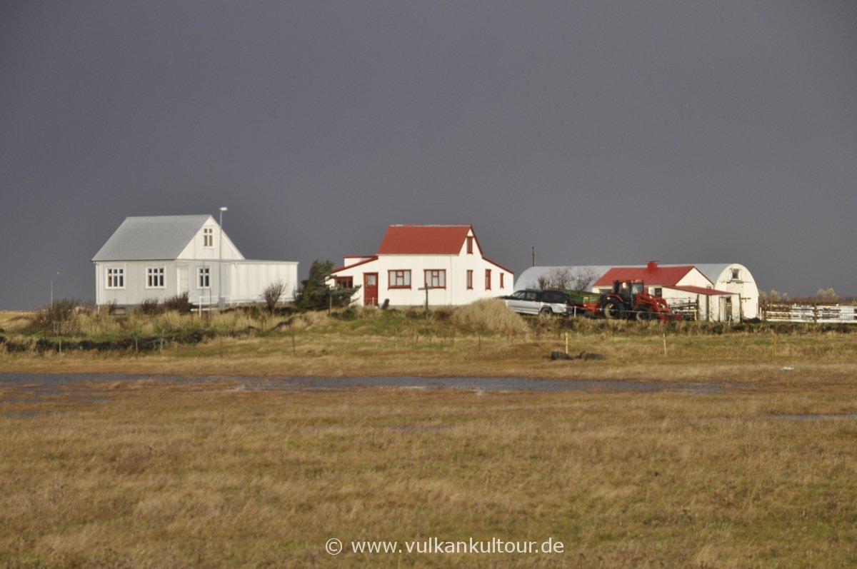 Einsamer Bauernhof im Flóahreppur