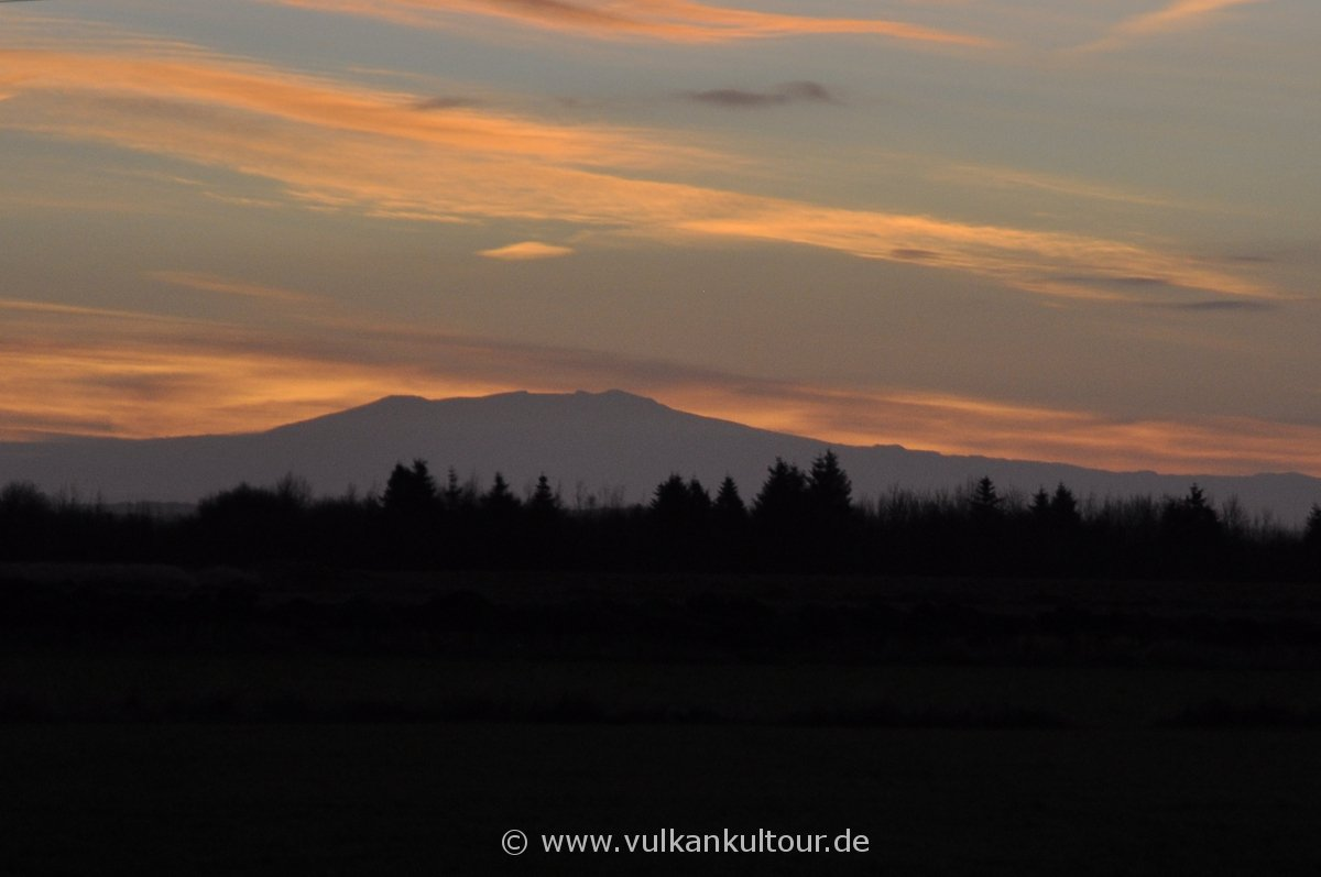 Sonnenaufgang hinter dem Eyjafjallajökull