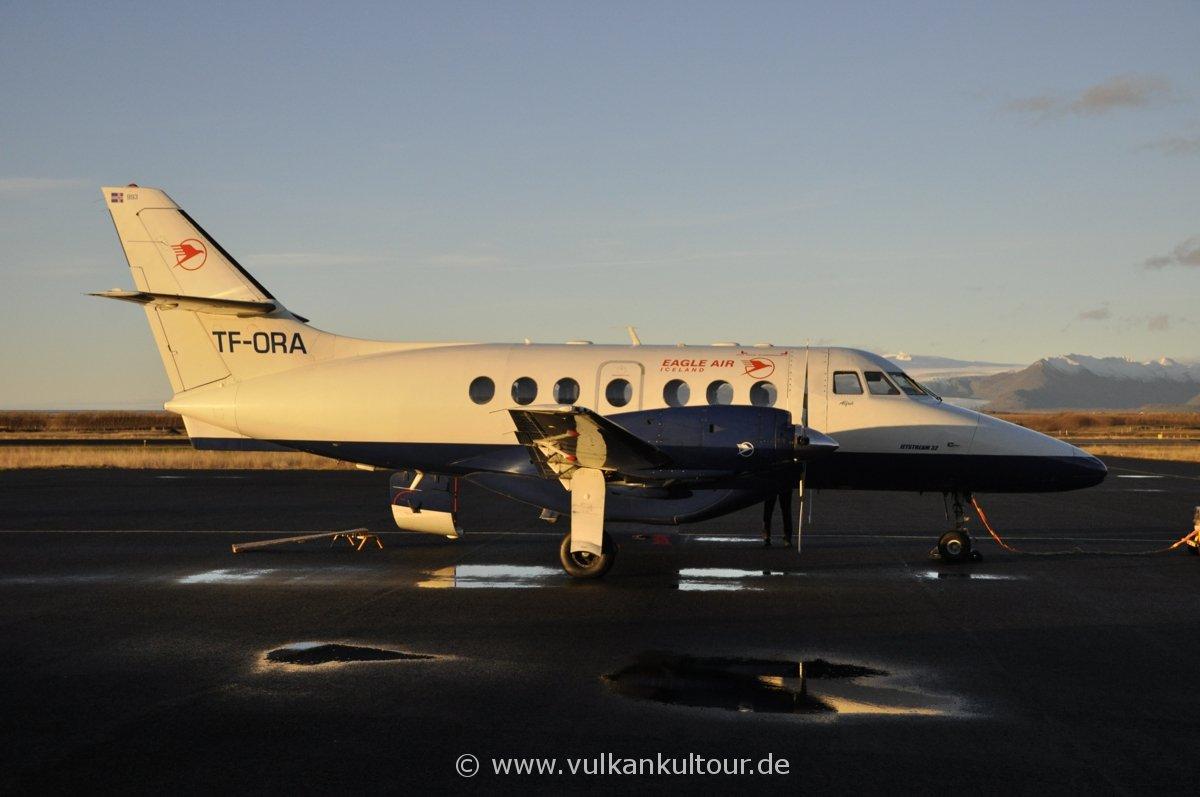 Rückflug Höfn - Reykjavík mit Eagle Air