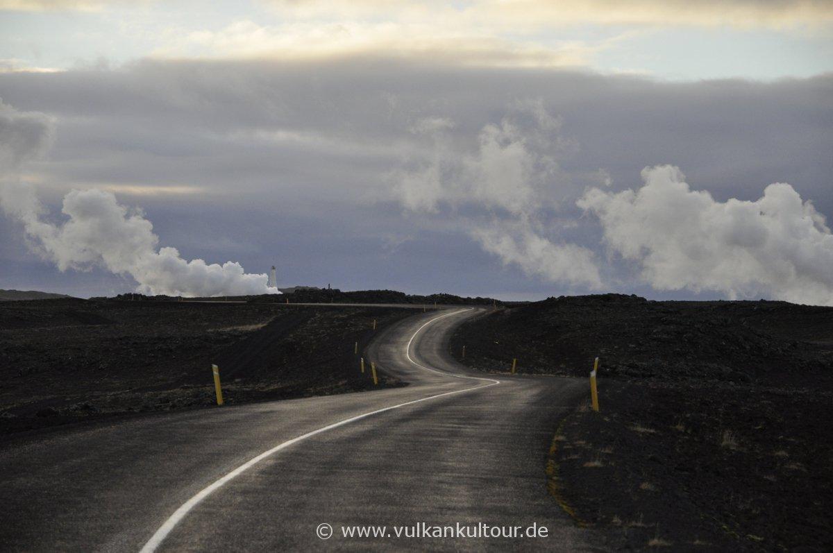 Fahrt über die rauchende Halbinsel Reykjanes
