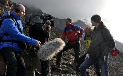Aufstieg auf den Stromboli mit einem Filmteam vom MDR