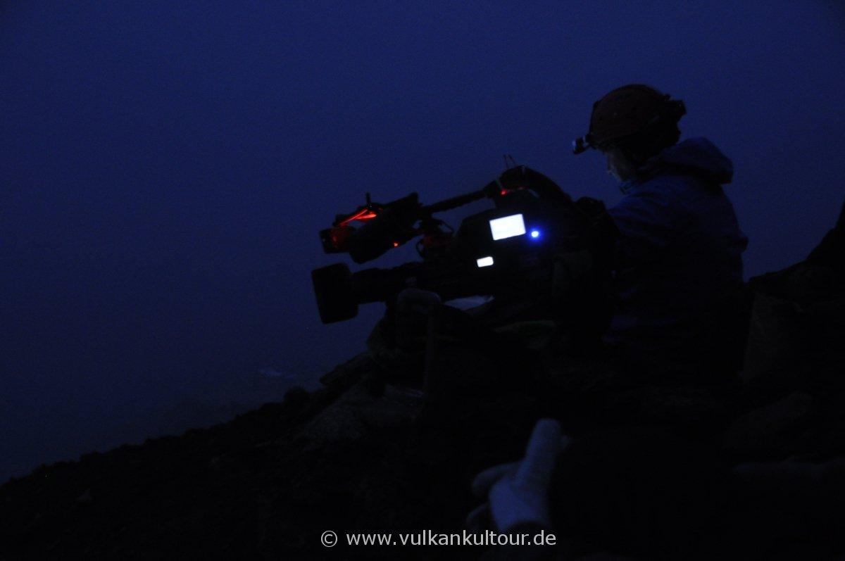 Stromboli - Filmaufnahmen an den Gipfelkratern