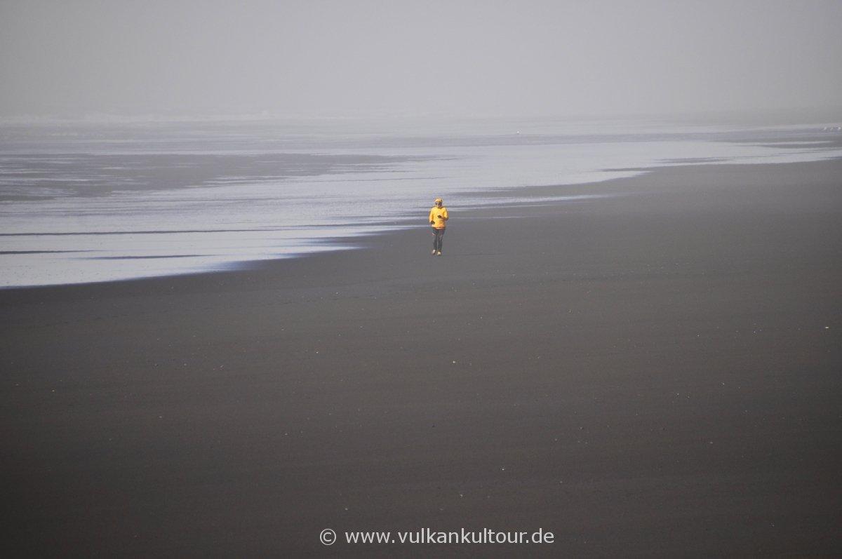 Farbtupfer am Strand