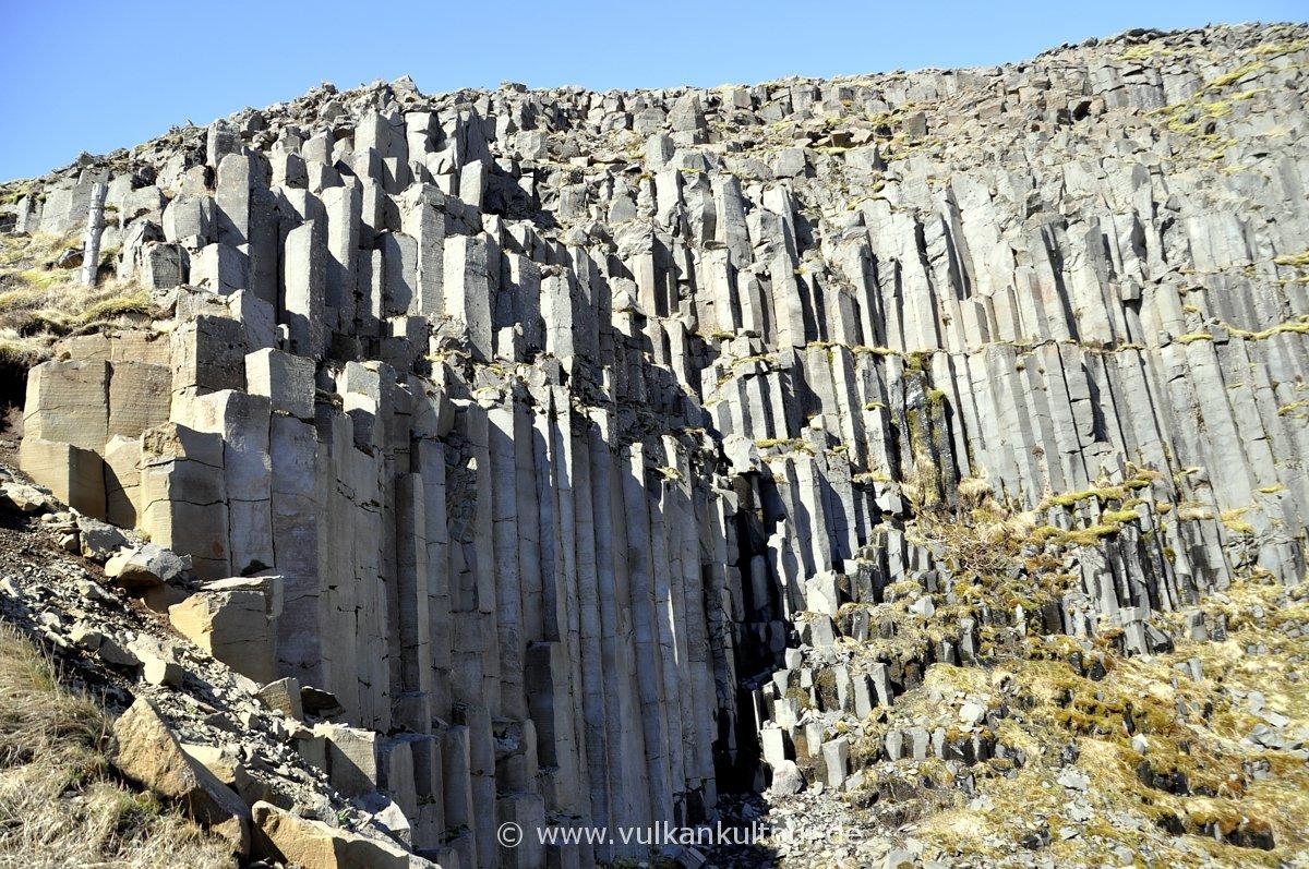 Basaltsäulen im Seljavellir