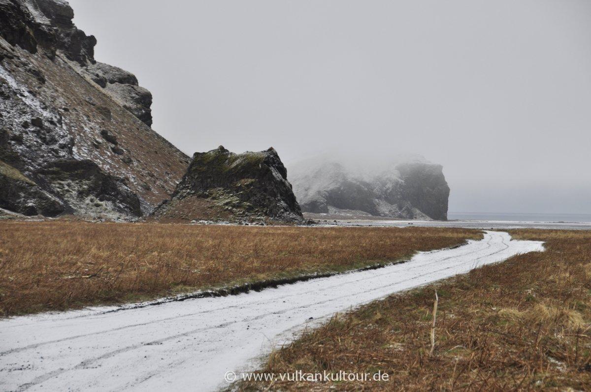 Wintereinbruch am Hjörleifshöfði