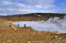 Heiße Quelle auf der Reykjanes-Halbinsel