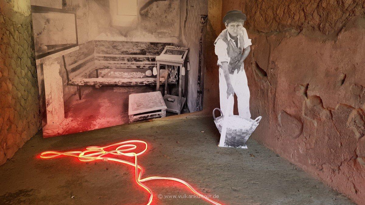 Ausstellung in den Ruinen von Herculaneum