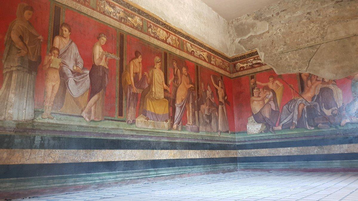 Pompeji - in der Villa dei Misteri