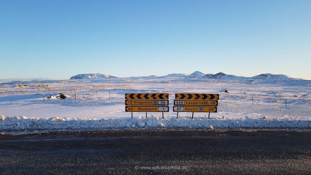 Auf dem Weg nach Thingvellir