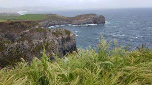 Stürmischer Blick über die Nordküste von São Miguel