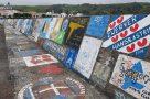 An der Kaimauer von Horta verewigen sich die Weltumseegler