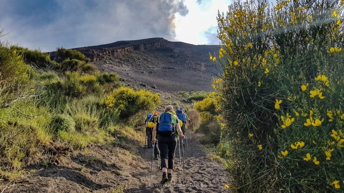 Auf geht's auf den Vulkan!
