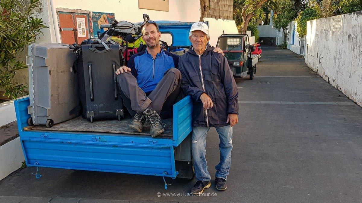 Gepäck- und Reiseleitertransport mit Antonio
