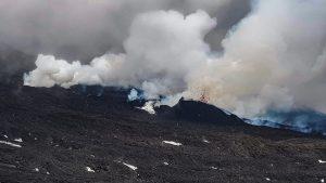 Die Eruptionsspalte an der Basis des NSEC