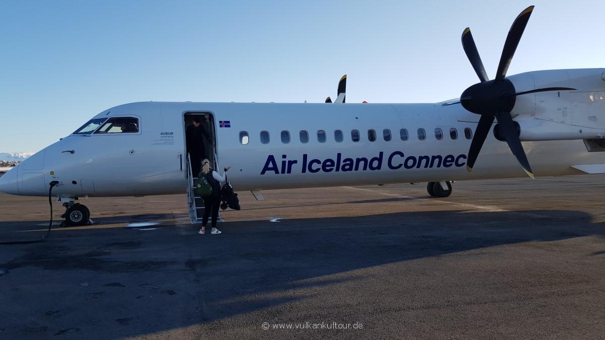 Mit Air Iceland Connect nach Akureyri