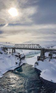 Alte Ringstraßenbrücke am Goðafoss