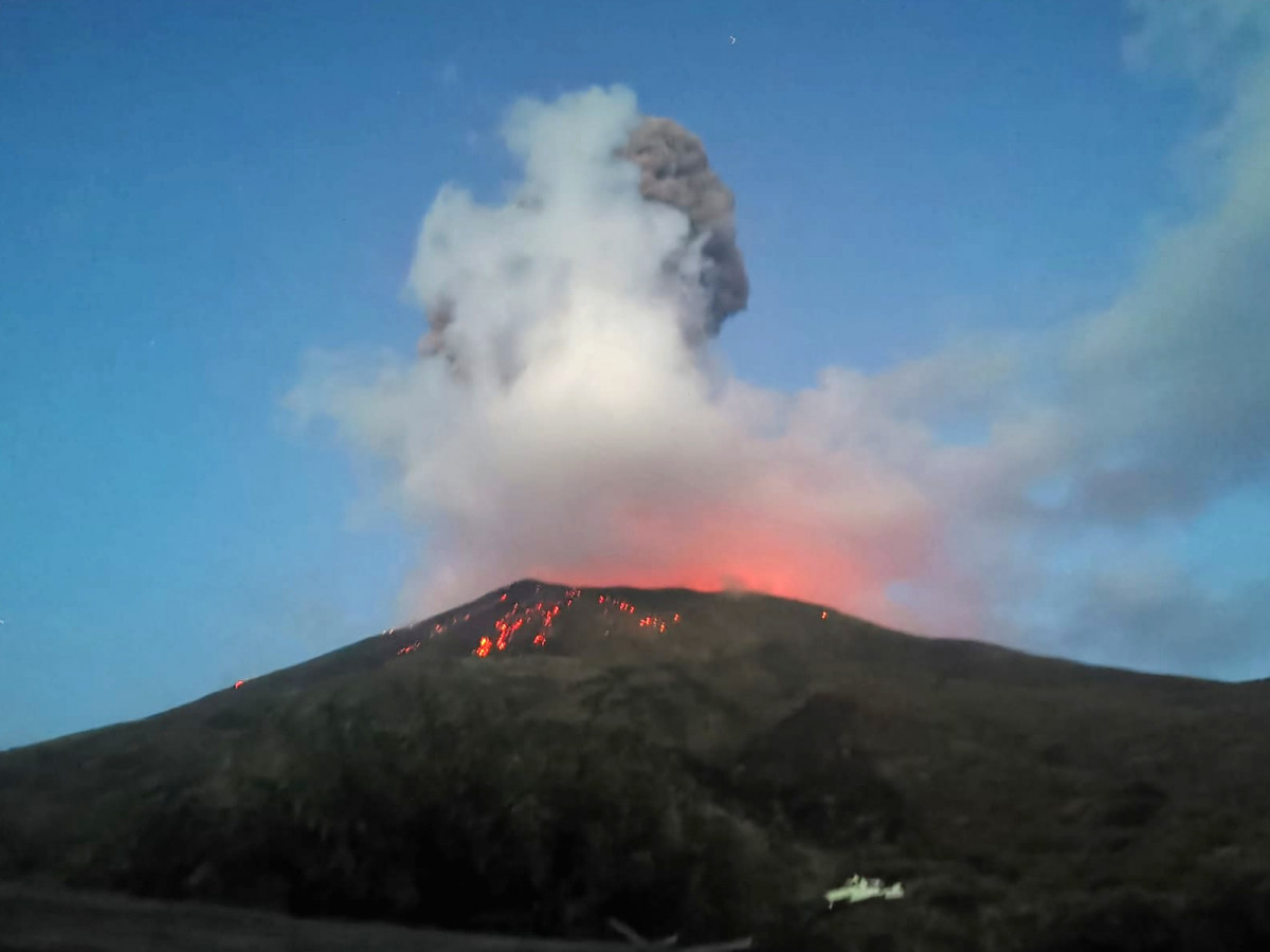 Größere Explosion auf Stromboli 19.07.2020