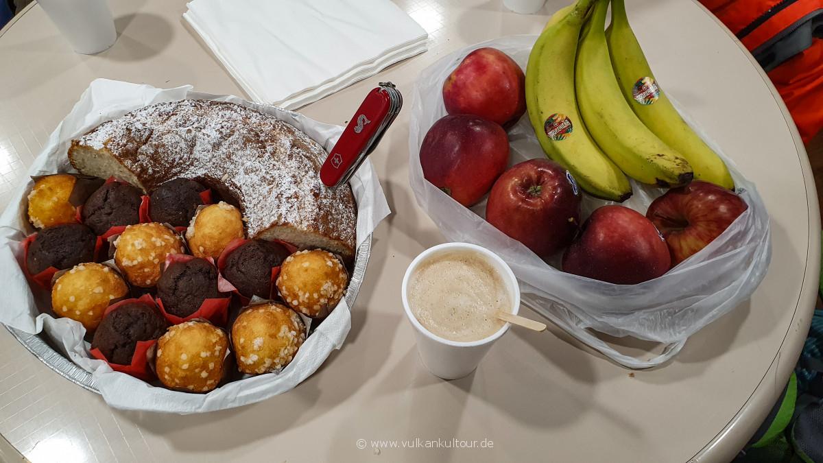 Frühstück auf der Laurana