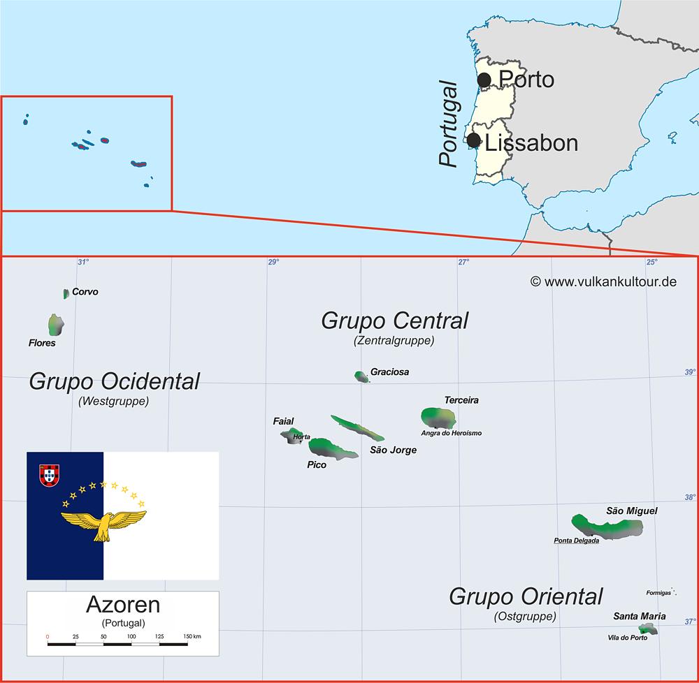 Azoren Übersichtskarte