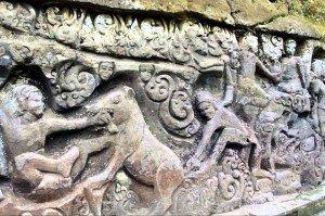 Steinrelief bei Yeh Puluh