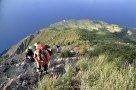 Aufstieg von Labronzo über leichte Kletterstelle